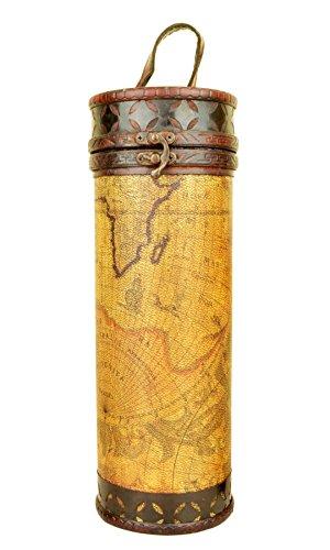 Cilindrica antico bottiglia di vino Carrier Holder regalo scatola