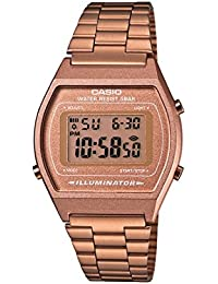 Casio Collection B640WC-5AEF, Reloj Digital Unisex, Acero Inoxidable, Marrón