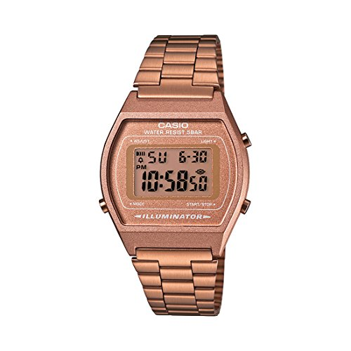 Foto de Casio Collection B640WC-5AEF, Reloj Digital Unisex, Acero Inoxidable, Marrón