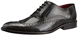 Park Avenue Mens Medium Grey Leather Formal Shoes - 8 UK
