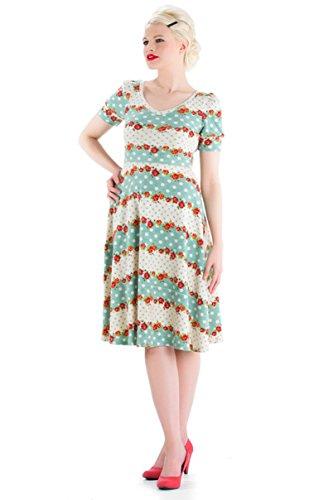 Voodoo Vixen - Polka Dot Floral Knit Dress XL