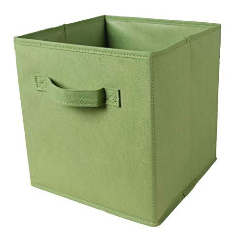 PETSOLA Regal OFFENE LAGERUNG Container Box Bin Stoff Desktop Korb Kinder Spielzeug CASE Basket, WÄSCHE Hamper - Grün -