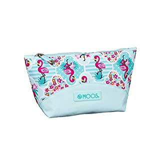 Moos  Flamingo Turquoise Oficial Mochila Escolar Infantil Porta Maquillaje 230x80x120mm