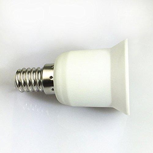 E14 vers E27 support de lampe, ampoule Socket – Woopower support Adapter- résistant au feu lampe Converter