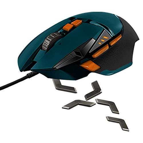 YZYL Gaming-Maus (kabelgebunden, professionell, exportioniert, optischer Auflösung von 16000 DPI bis 12 Tasten, geeignet für Sport-Profis 132 * 75 * 40 (Microsoft Trackball-maus)