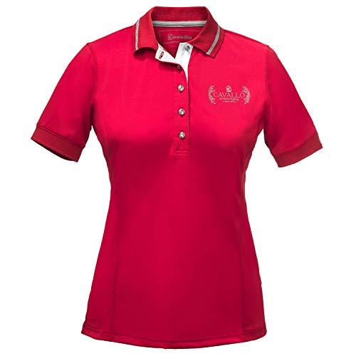 Cavallo Monique Womens Polo Shirt UK 10 Reg Lipstick