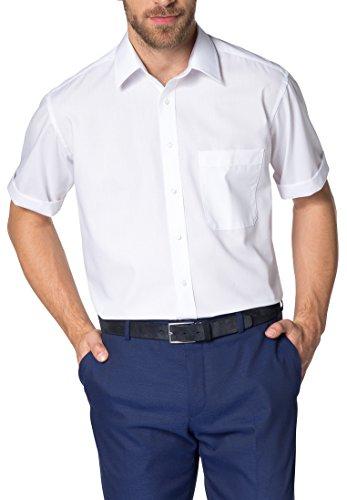 Eterna Hemd 1/2 Arm - Wilhelm Groe Gren fr den Mann, Gr.48, Weiss (Herren Hemden-popeline)