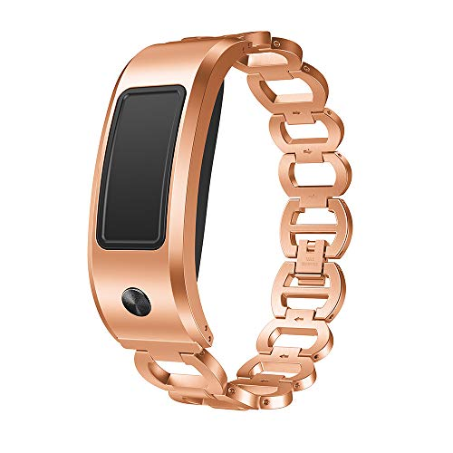 Preisvergleich Produktbild MuSheng Band für Garmin Vivofit 2 Armband,  Edelstahl Metall Bling Ersatz Strap Wrist Luxus Premium Band für Garmin Vivofit 2 (Roségold)
