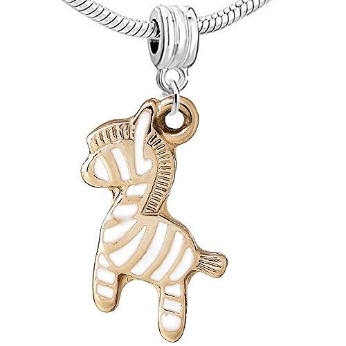 Sexy paillettes Femme 3D Animal/Animal–Charms pour Bracelet zebra charm