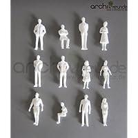 25 x Modell Figuren, weiß unbemalt, für Modellbau 1:50, Modelleisenbahn Spur 0
