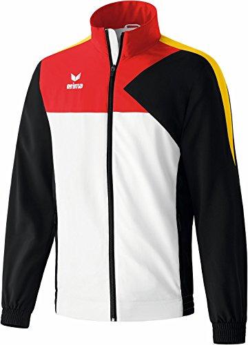 erima Kinder Anzug Premium One Präsentationsjacke Weiß/Schwarz/Rot/Gelb 140 Preisvergleich