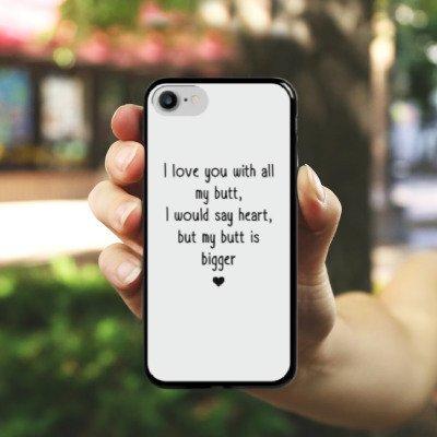 Apple iPhone X Silikon Hülle Case Schutzhülle Liebe Lustig Statement Hard Case schwarz