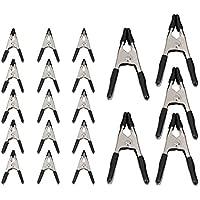 AmazonBasics - Juego de abrazaderas de resorte de acero, 20 unidades: 15 unidades de 1,91 cm y 5 unidades de 2,54 cm