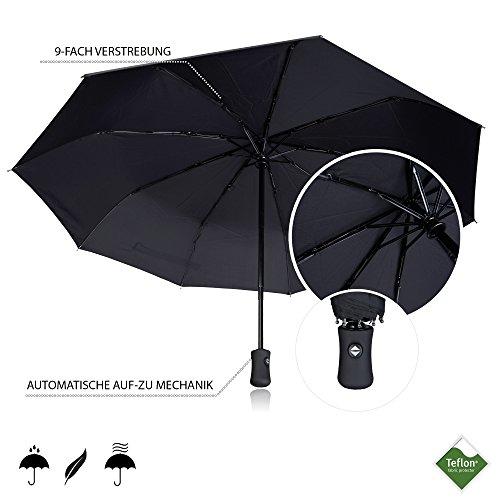 Kleidung & Accessoires Regenschirm Automatischer Boy ® Taschenschirm 7 Edelstahl-rippen Windsicher Sch Damen-accessoires