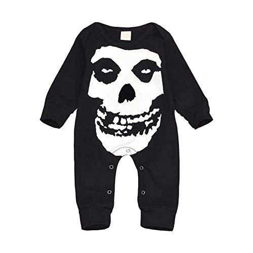 Baywell Baby Mädchen Jungen Halloween Strampler Spielanzug, Schädel Knochen Gesicht Kostüm Outfits (Kind Schädel Gesicht Kostüm)