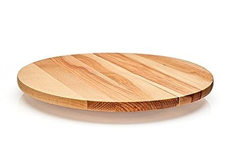 Lazy Susan Plateau Tableau rotatif. en bois. Hêtre Massif. Utilisé pour servir de fromage, mise en bouche, antipasti. avec roulement à billes tournant pour servir Diameter 40 cm
