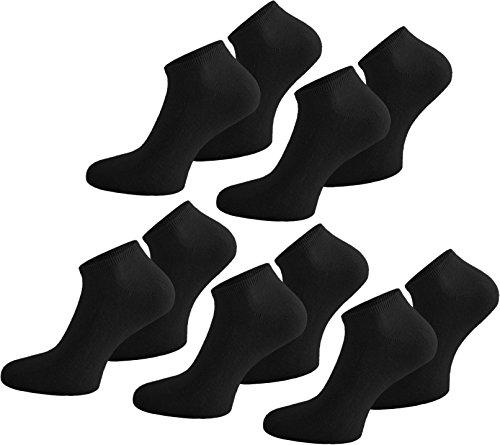 10 Paar Baumwolle Sommer Sneaker Socken für Damen und Herren in verschiedenen Farben zur Auswahl Farbe Schwarz Größe 48/50 (Dünne Laufen Socken)