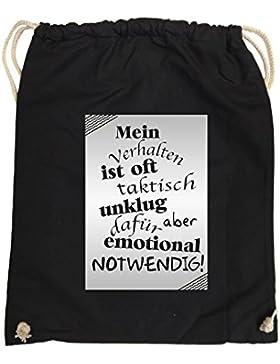 Comedy Bags - Mein Verhalten ist oft taktisch unklug - ZETTEL - hipster Turnbeutel, bedruckter Gymbag aus 100...