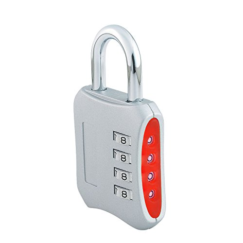 e0b4deaf091e Combination Padlock 2-inch Gym Lock with 4 Digit Set-Your-Own-Combination  (Silver)