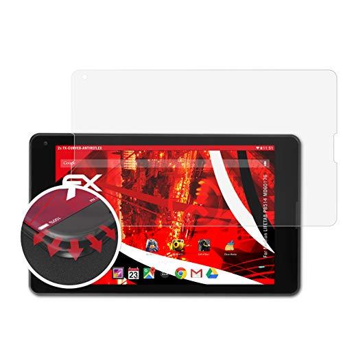 atFolix Schutzfolie passend für Medion LIFETAB P8514 MD60176 Folie, entspiegelnde & Flexible FX Bildschirmschutzfolie (2X)