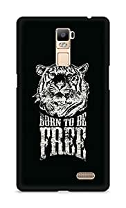Amez designer printed 3d premium high quality back case cover for Oppo R7 Plus (Born To Be Free Tiger)
