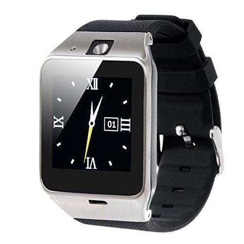 VOSMEP 2016 Nuovo Smart Watch Watch Phone Orologio Cellulare Telefonico con Bluetooth 3.0 Bracciale Intelligente Sport Bracelet con Camera 1.5 inch Touch Screen per Android Samsung HTC Xiaomi LG Huawei SIM Smartphones (Nero) SM11
