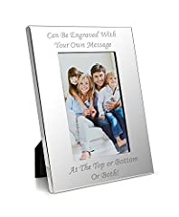 Idea Regalo - Engrave It Online Personalizzato lusso 10,2x 15,2cm–Cornice portafoto in argento personalizzabile con il proprio messaggio