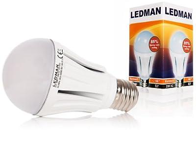 LEDMAN E27 LED Lampe 10 Watt - 160° Abstrahlwinkel - 1050lm - Warmweiß - 230V - 50 SMDs Birne von LEDMAN - Lampenhans.de