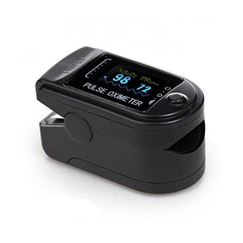 Contec CMS50D Pulsoximeter mit OLED-Display und BLYL Zubehör -