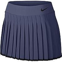 Nike Court Victory Falda de Tenis, Mujer, Azul (Blue Recall/Black), M
