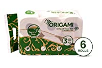 ORIGAMI Luxuria 3 Ply Compact Toilet Tissue roll - 250 Pulls (Pack of 6)