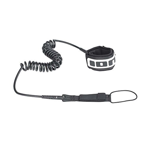 ION Core Coiled Knee SUP Leash-Black-10.0""