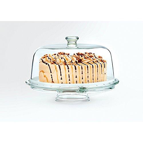 Creatable Serie Servier Butler, 20132, 2 TLG Set Tortenglocke mit Fuß, Glas, Transparent, 26 cm,...