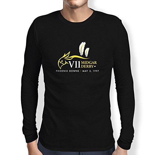 NERDO - Midgar Derby - Herren Langarm T-Shirt, Größe XL, (Vincent Kostüm Valentine)