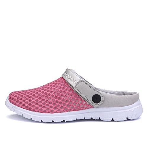 SAGUARO® Unisex Clogs Hausschuhe Muffin unten alltägliche Drag Hausschuhe Beach Schuhe Sommer Rose Red