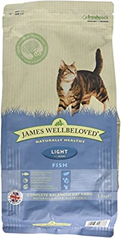 James Wellbeloved Fish and Rice Light Cat Food 1.5 Kg