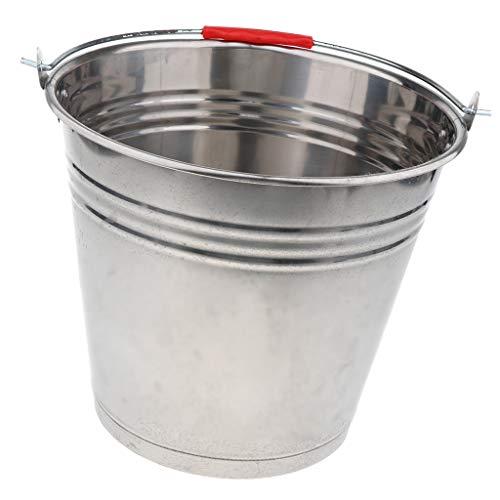 0L Edelstahleimer Metall Eimer Edelstahl Kücheneimer für Wasser Milch Eiskübel - 16L 34cm ()