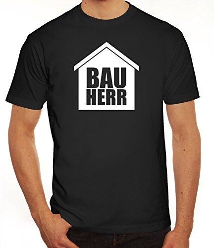 Eigenheim Herren T-Shirt mit Bauherr Motiv von ShirtStreet Schwarz