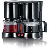 Severin KA 5802 Duo-Kaffeeautomat inklusive Teefilter, schwarz