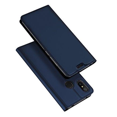 DUX DUCIS Xiaomi Mi A2 Lite Hülle,Flip Folio Handyhülle,Magnet,Standfunktion,1 Kartenfach,Ultra Dünn Schutzhülle für Xiaomi Mi A2 Lite (Blau)