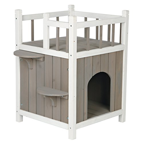 Trixie natura cat' s home con balcone, 45× 65× 45cm, grigio/bianco