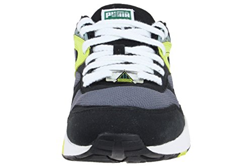 Puma Trinomic R698 Sneaker Men Trainers 357837 04 black / yellow Schwarz / gelb