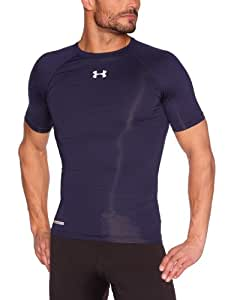 Under Armour HG Sonic T-Shirt de compression manches courtes Homme Midnight Navy/White FR : S (Taille Fabricant : SM)