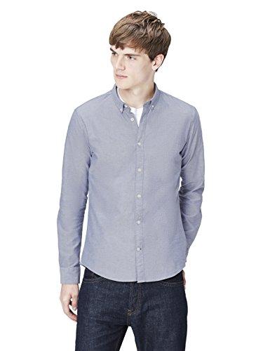 Chambray-utility Shirt (T-Shirts Herren Schmales Freizeithemd, Blau (Plain Oxford/204), Gr. 52 (Herstellergröße: Large))