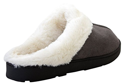 A&H Footwear - Ciabatte da ragazza' donna Grey/White Fur