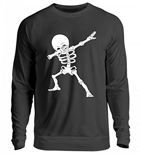 Hochwertiger Unisex Pullover - Dabbing Skelett Hip-Hop Dab Tanzendes Gerippe Tanz Geschenk