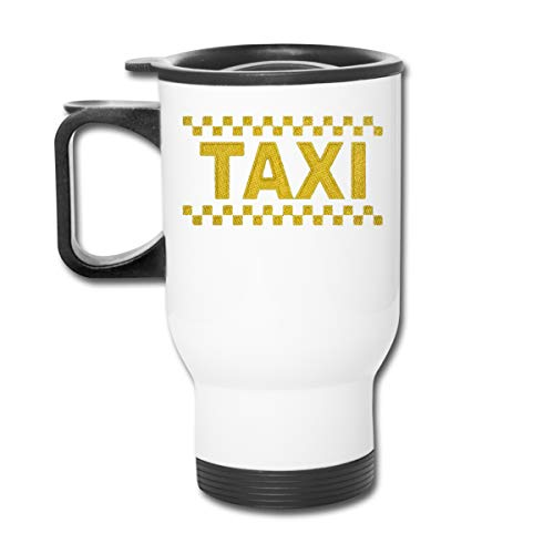 Best Funny Special Perfect Gifts Idea Personalized Custom Taxi Driver Cab Stainless Steel Camping Mug With Lid White