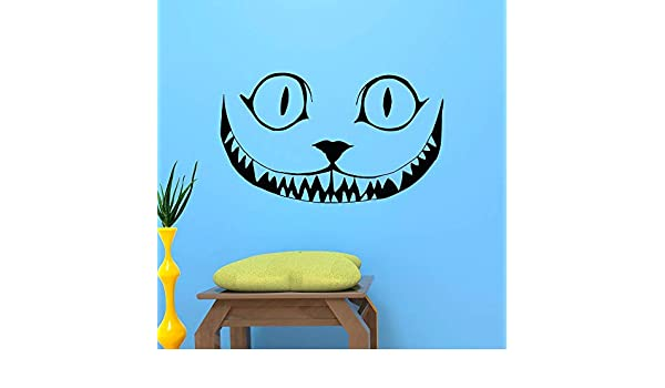 Stickers Muraux Chat Cheshire Dessin Anime Sourire Alice Au Pays