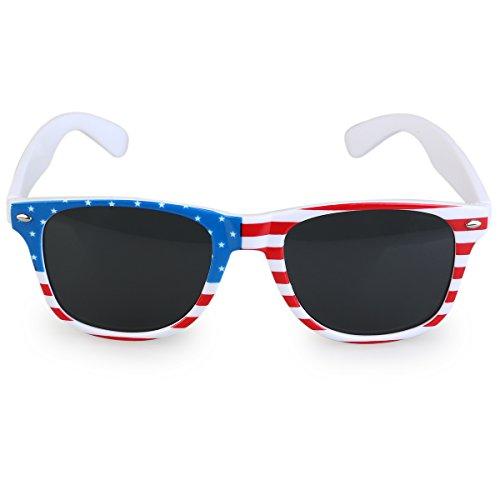 LUOEM USA Flaggen Sonnenbrille amerikanische Patriot Flaggen Sonnenbrille Partei (Brille Patriotische)