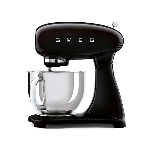 Smeg smf03bleu SMF03BELU Robot de cuisine 800w 4,8L-6 Fonctions Noir, Acier inoxydable 18/8